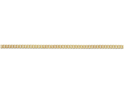 9ct Yellow 628 Diamond Cut Curb Loose