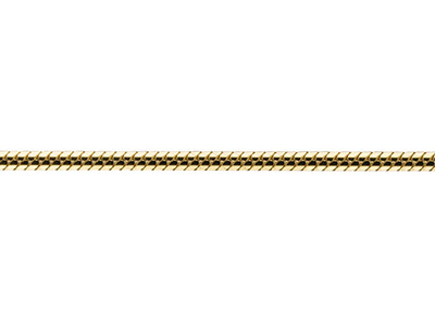 9ct Yellow Gold 1.2mm Diamond Cut  Loose Snake Chain