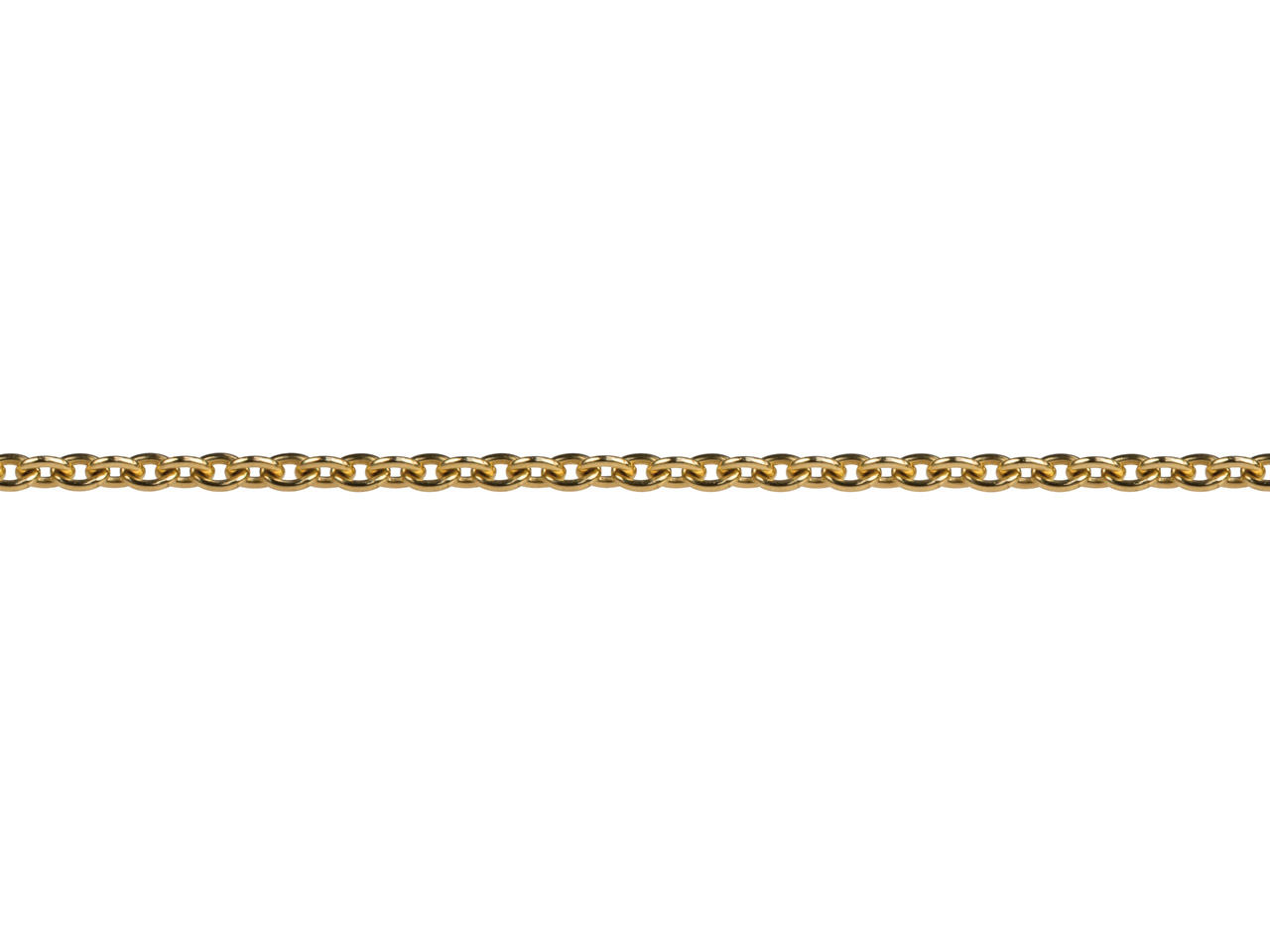 18ct Yellow Gold 1.0mm Round Loose Trace Chain