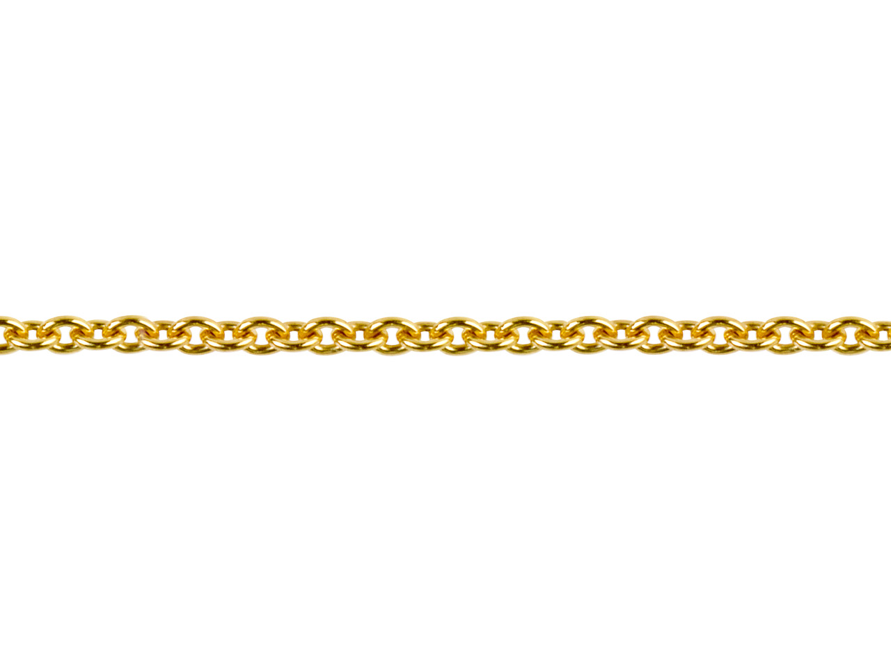 18ct Yellow Gold 1.5mm Round Loose Trace Chain