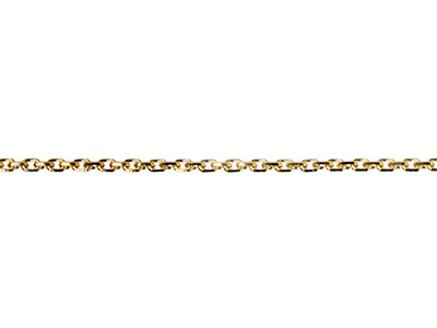 18ct Yellow Gold 1.4mm Diamond Cut Loose Trace Chain