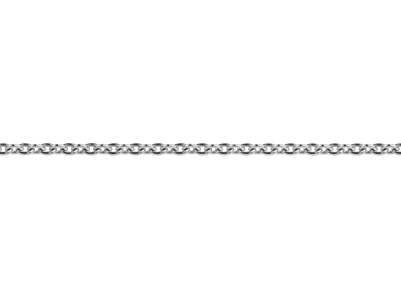 18ct White Gold 1.3mm Round Loose  Trace Chain