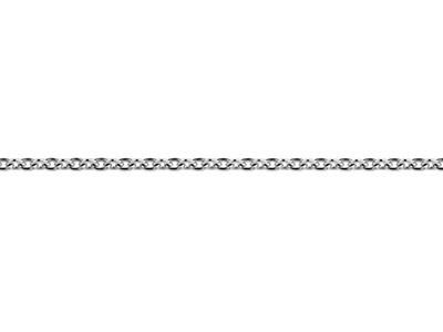 18ct White Gold 1.5mm Round Loose  Trace Chain