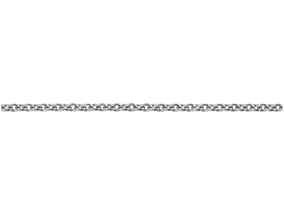 Platinum 1.5mm Round Loose Trace   Chain