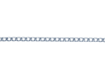 Sterling Silver 1818 Plain Curb Loose