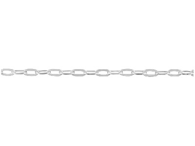 Sterling Silver Long Hammered Trace 1.8mm