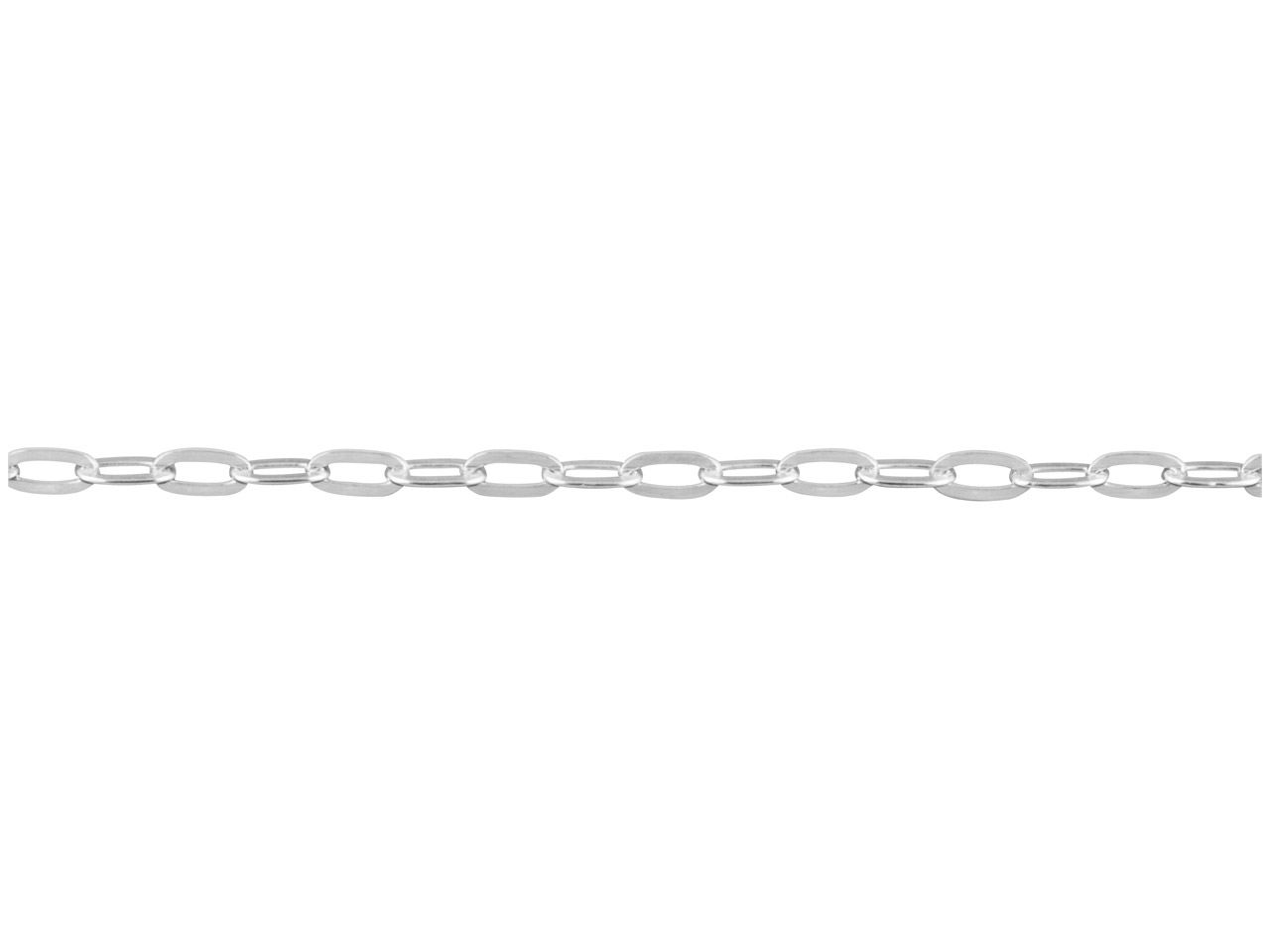 Sterling Silver Long Hammered Trace 1.8mm, Loose