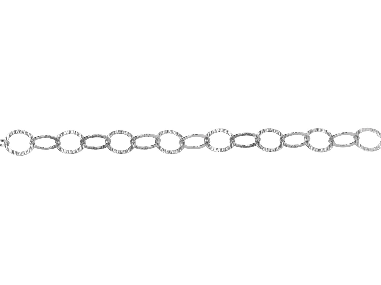 Sterling Silver Hammered Round Link 11mm, Loose