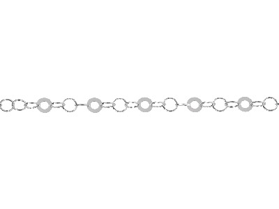 Sterling Silver 31 Round Link     10mm Loose