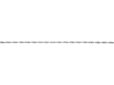 Sterling Silver 2.2mm Loose Twisted Curb Chain