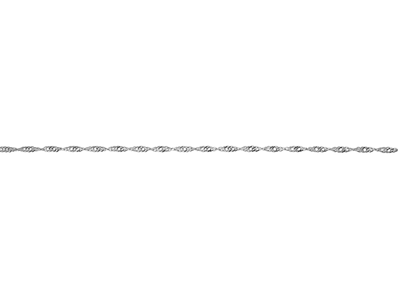 Sterling Silver Twisted Curb 2.2mm, Loose