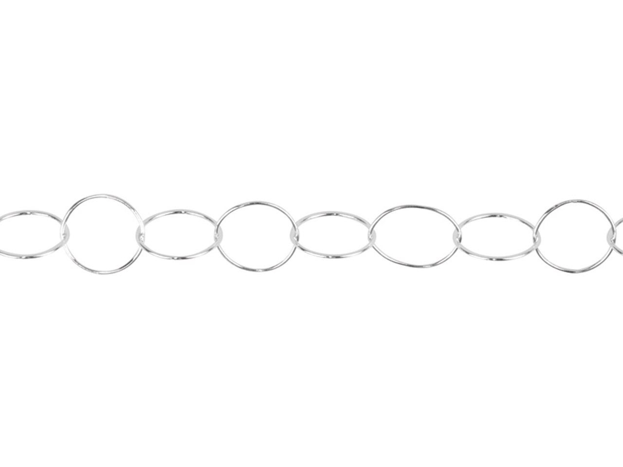 Sterling Silver Circle 60 Made From 0.6mm Round Wire, 9.8mm Wide, Loose