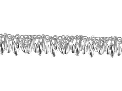 Sterling Silver 13.0mm Loose Fancy Leaf Chain
