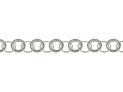 Sterling Silver 21.0mm Loose Fancy Round Multi Link Chain