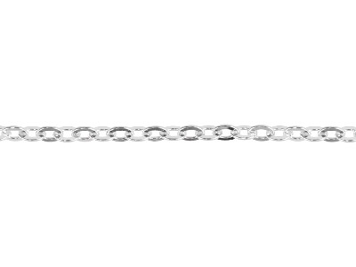 Sterling Silver 5.3mm Loose Flat   Trace Chain
