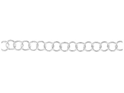 Sterling Silver 6.3mm Loose Round  Trace Chain