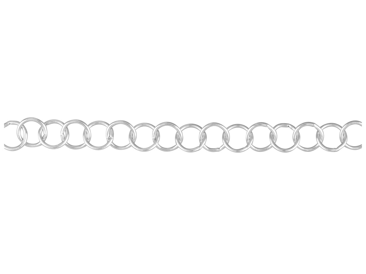 Sterling Silver Round Link, Loose  6.3mm