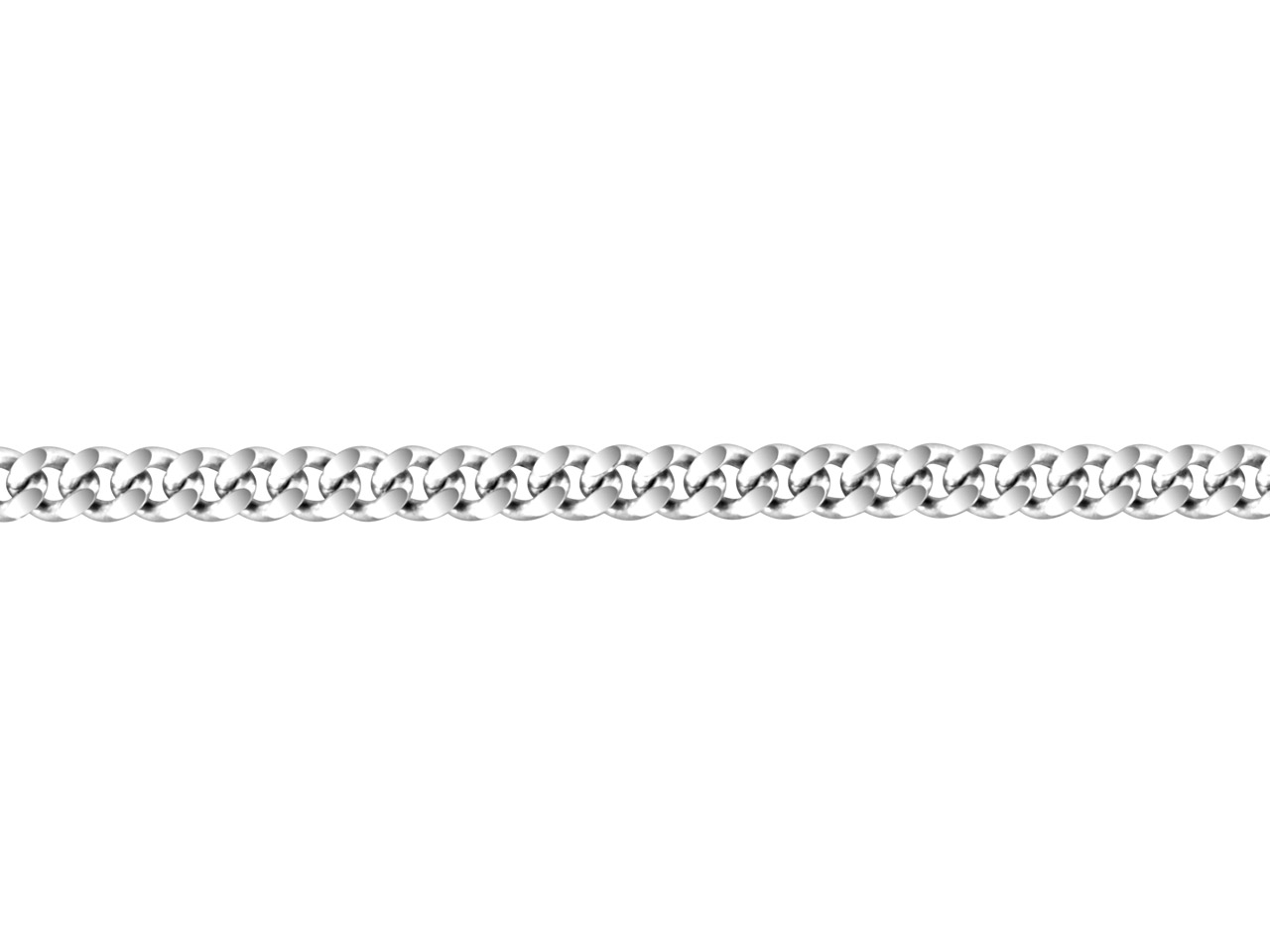 Sterling Silver Flat Filed Curb,   Loose 2.8 X 1.5mm