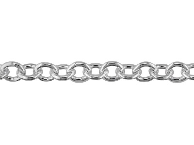 Sterling Silver 9.5mm Loose Cable  Chain