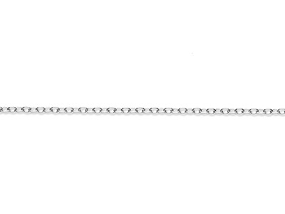 Sterling Silver 2.3mm Loose Trace  Chain