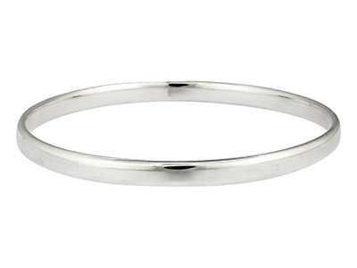 Sterling Silver Bangle 5.4mm Wide  Hallmarked