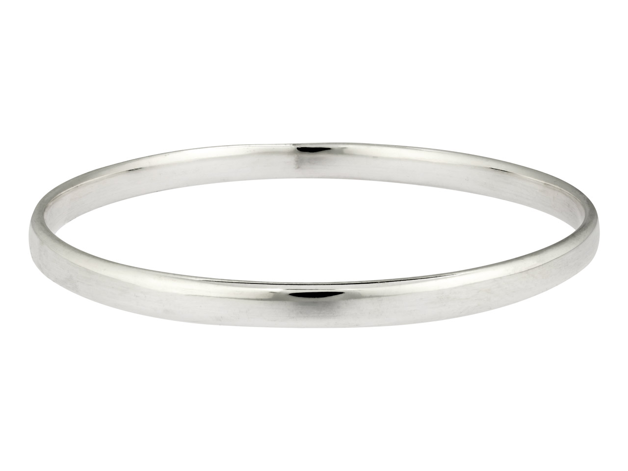 Sterling Silver Bangle, 5.4mm Wide