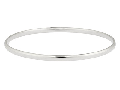 Sterling Silver Bangle 3.5mm Wide  Hallmarked