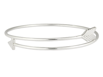 Sterling Silver Arrow Design Bangle Hallmarked