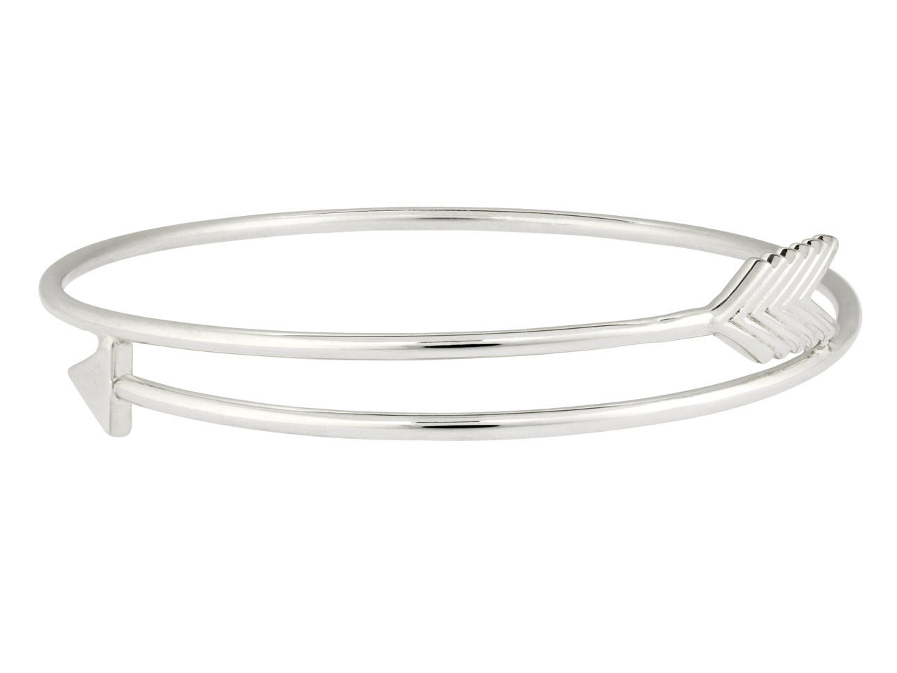 Sterling Silver Arrow Design Bangle