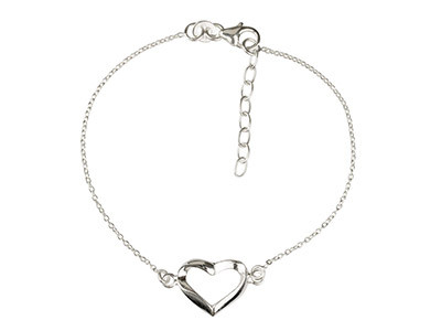 Sterling-Silver-Bracelet-With-Heart-L...