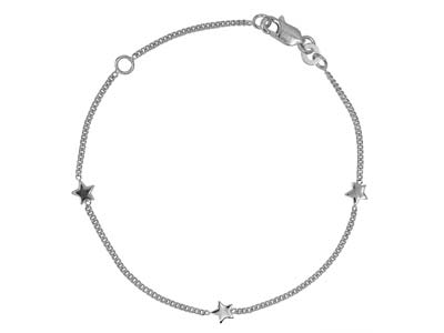 Sterling Silver Star Design        Bracelet
