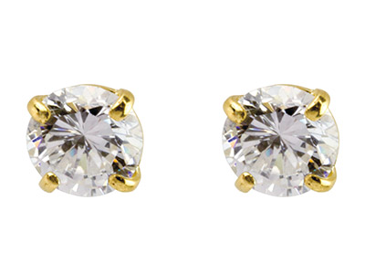 9ct-Yellow-Pair-5mm-Cubic-Zirconia-St...