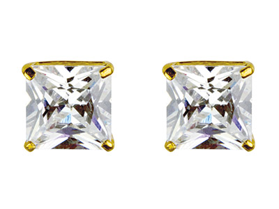 9ct-Yellow-6mm-Square--------------Cu...