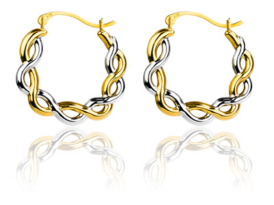 9ct-Yellow-Creole-Earring----------Ha...