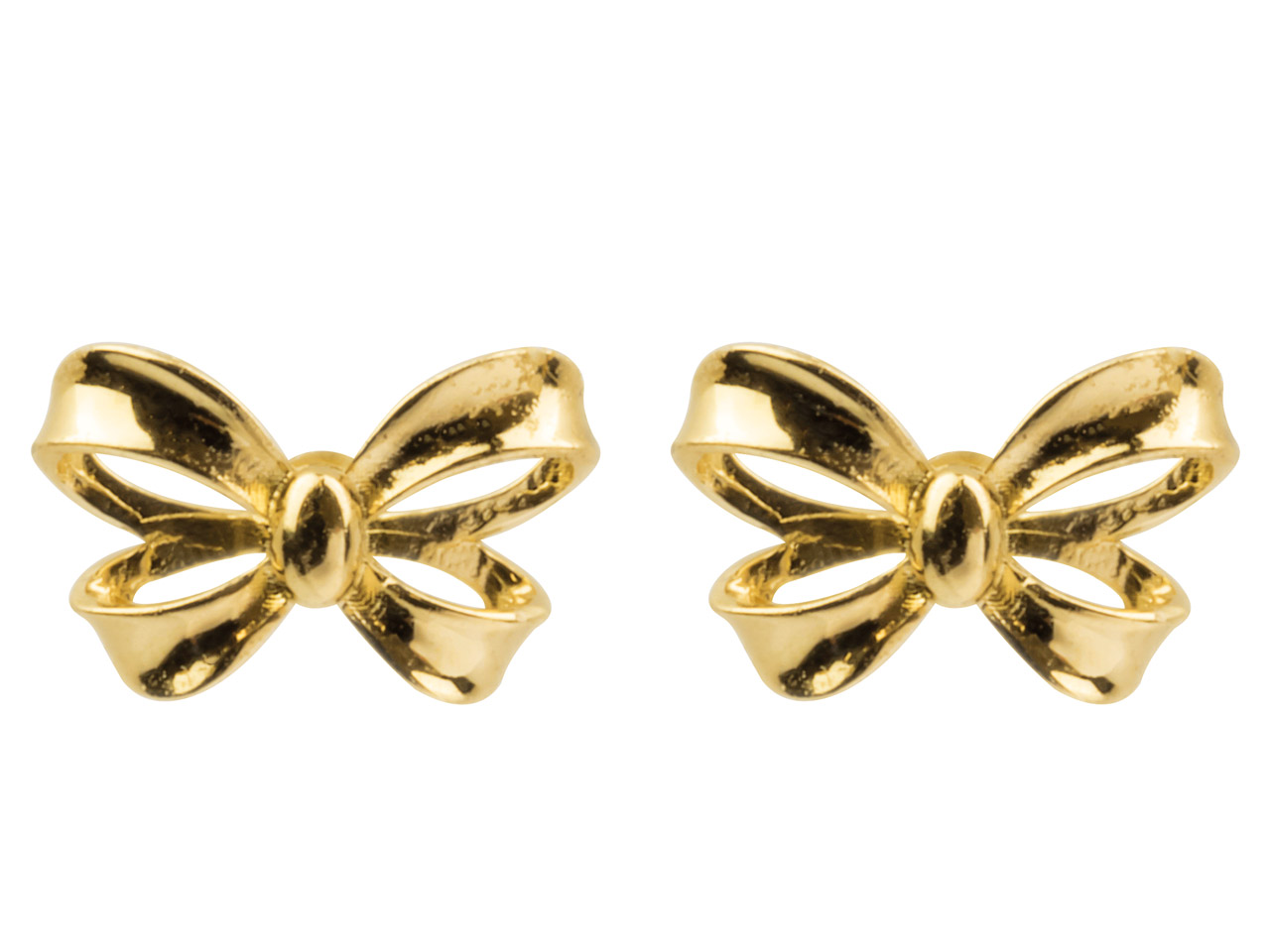9ct Yellow Gold Ribbon Stud        Earrings
