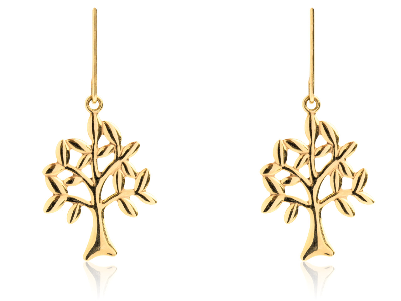 9ct Yellow Tree Of Life Drop       Earrings