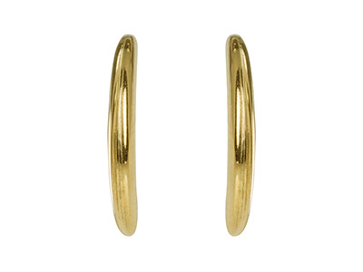 9ct Yellow Gold Crescent Hoop      Earrings