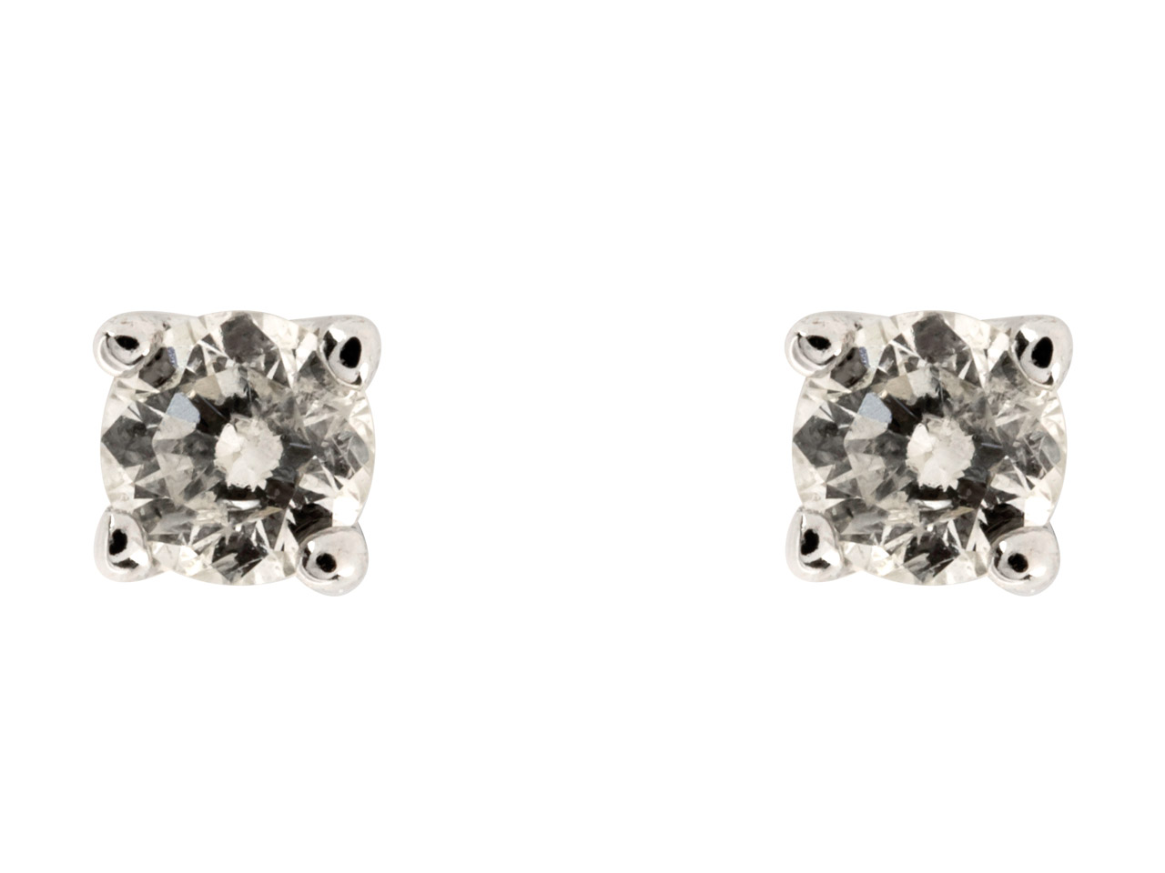 9ct White Diamond Stud Earring,    0.06cts, Claw Set
