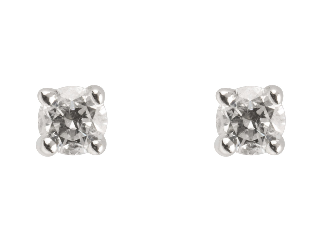 9ct White Diamond Stud Earring,    0.10cts, Claw Set