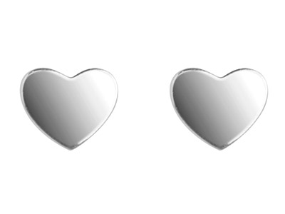 Sterling Silver Earrings Delicate  Heart