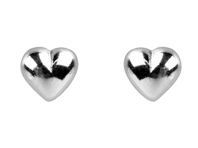 Sterling Silver Earrings Heart Stud