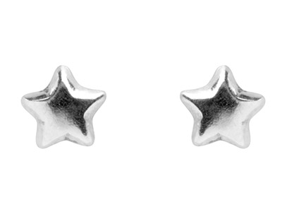 Sterling Silver Earrings Star Stud