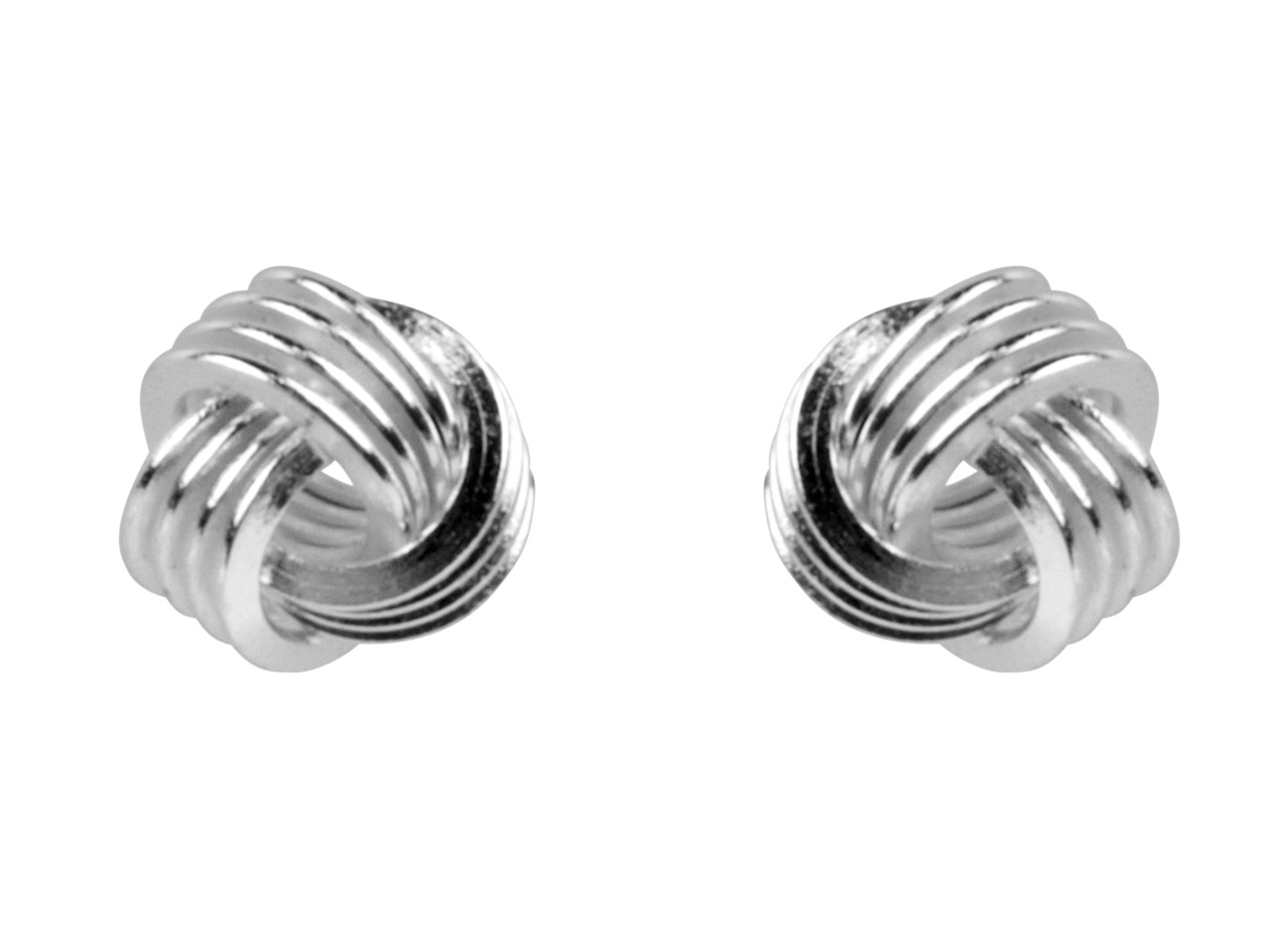 Sterling Silver Earrings Knot Stud