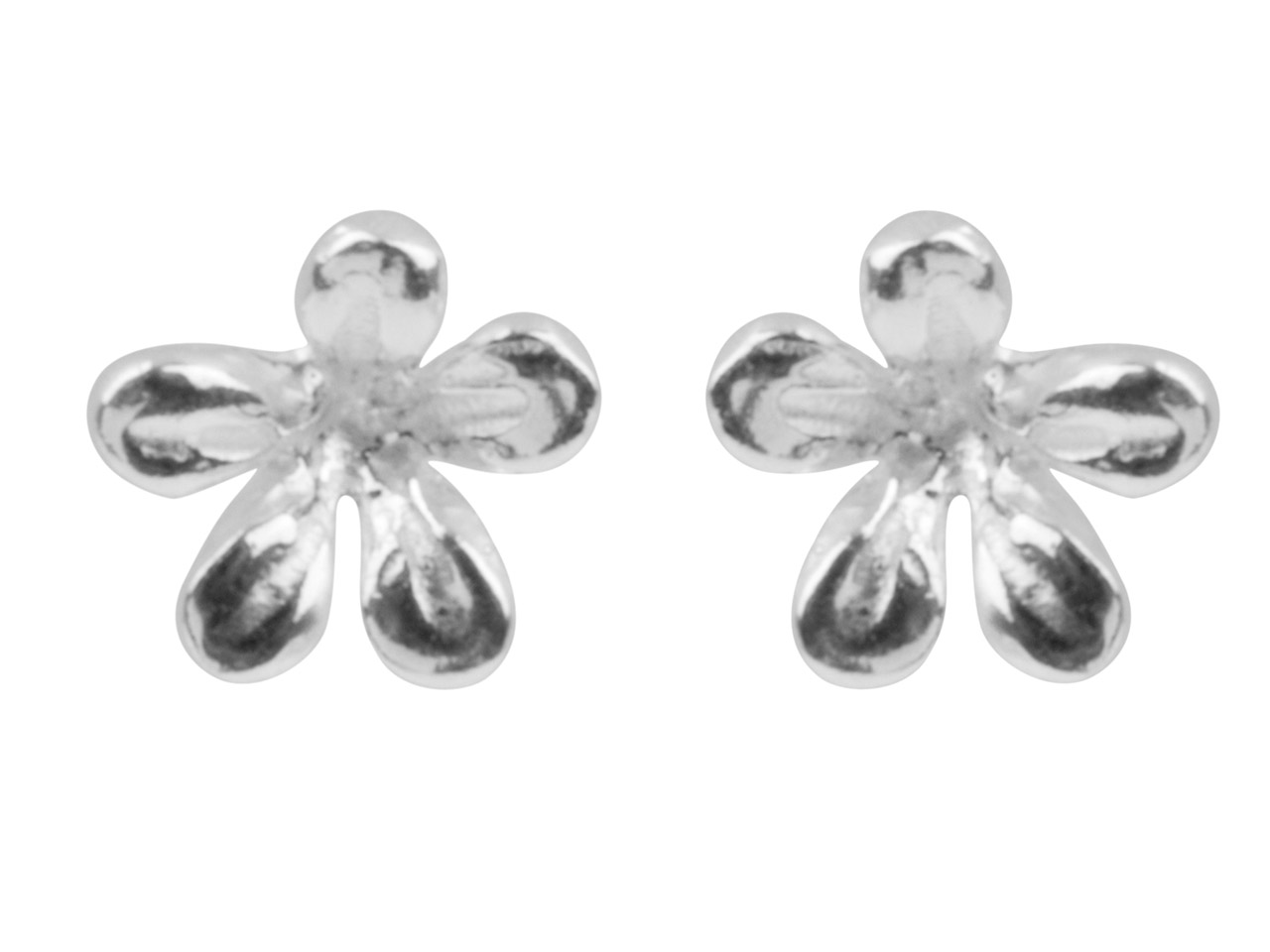 Sterling Silver Earrings Flower    Stud