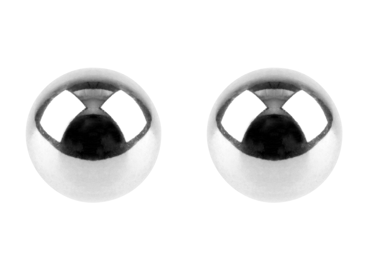 Sterling Silver Earrings 3mm Ball  Stud With Scroll