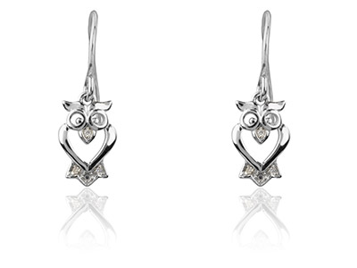 Sterling-Silver-Earrings-Owl-------Dr...