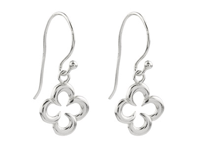 Sterling-Silver-Clover-Outline-Drop-E...