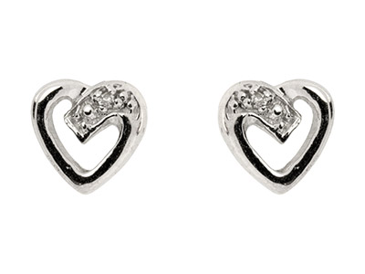 Sterling-Silver-Heart-Outline-Stud-Ea...