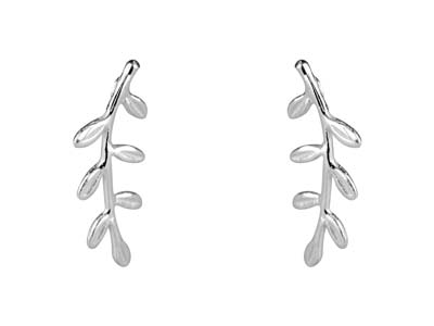 Sterling Silver Vine Ear Climber   Earrings