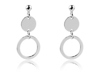 Solid 925 Sterling Silver Hope Post Earrings 8.3mm x 2.9mm
